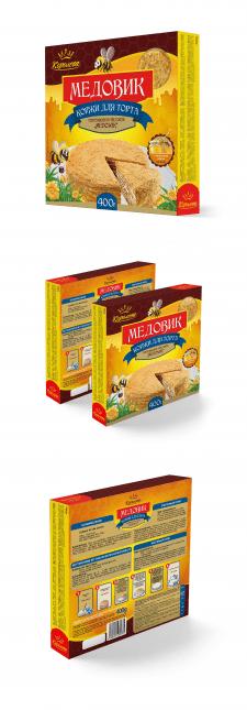 Дизайн упаковки коржей для торта Метовик