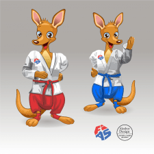 Векторные персонажи для федерации самбо