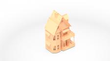 Кукольный домик 3D (деревянный конструктор)