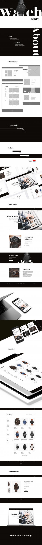 Дизайн интернет-магазина мужских часов
