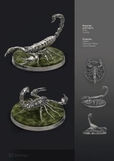 """Дизайн кабинетного украшения """"Скорпион"""""""