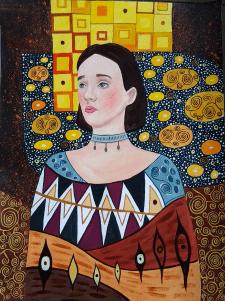 Портрет у стилі Густава Клімта