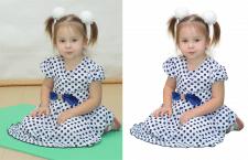 Обтравка детского портрета