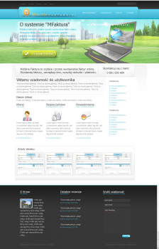 Дизайн для сайта он-лайн счетов