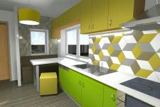 Дизайн проект компактной кухни