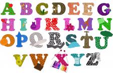 Декоративные буквы и цифры