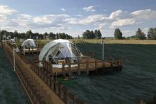 3d моделирование места для рыбалки,экстерьер