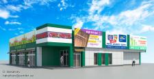 Визуализация реконструкции цветочного магазина