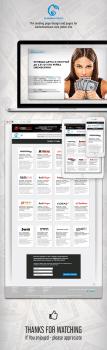 Дизайн посадочной страницы и дизайн нескольких стр