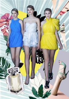 Коллаж для бренда одежды
