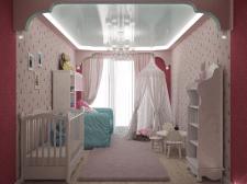 Дизайн детской комнаты для девочки#