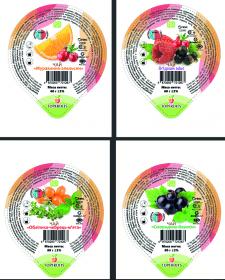 Серийная этикетка для фруктового чая Топфрутс