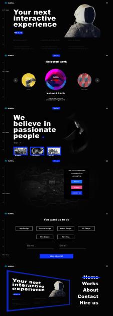 Global    Веб-сайт на Vue.js