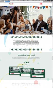 Linella - простой (langind page) акции