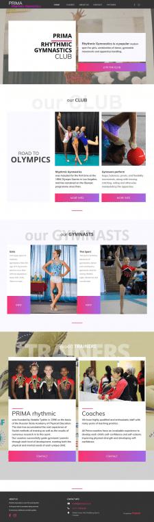Сайт школы гимнастики