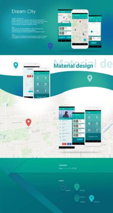 Dream city. Android app. Material design.