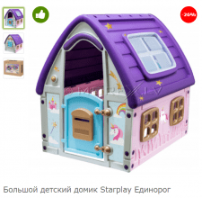 Текст для карточки товара (детский игровой домик)