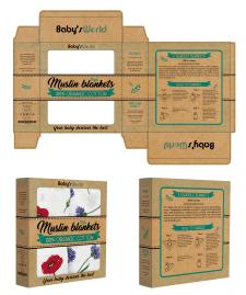 Упаковка муслиновых пеленок