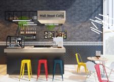 Интерьер кофейни Wall Street Cafe