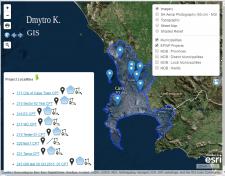 LeafletJS, ESRI, панель редагування геоданих