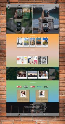 Дизайн для сайта экспресс-фотоуслуг