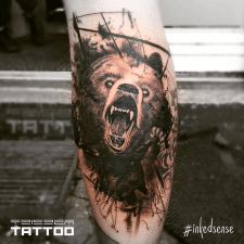 Bear tattoo Тату Медведь