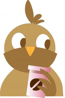 Логотип совы в кофейню
