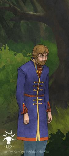 Горе - персонаж для гри в жанрі графічної новели