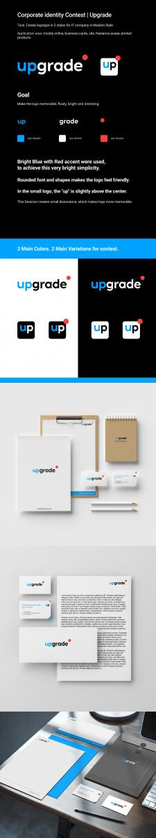 Логотип и цвета для компании Upgrade