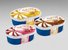 Дизайн этикеток для линейки мороженого