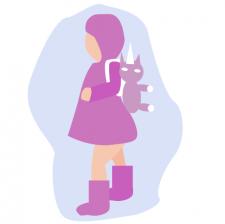 малышка с рюкзаком