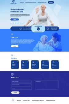 Корпоративный сайт для сестринских услуг в Германи