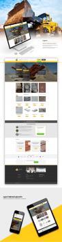 Дизайн сайта по сыпучим материалам