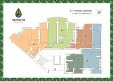 Отрисовка планов этажей для ЖК