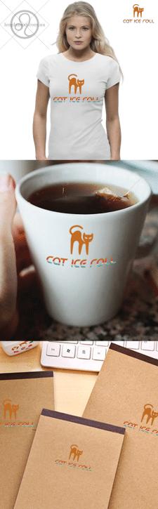 "Разработка логотипа  ""Cat ice roll"""