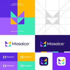 Mosaic M Letter Logo