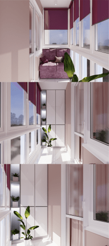 Дизайн балкона в 1 ком. квартиры в г.Харьков.