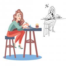 Векторний персонаж-офісний працівник