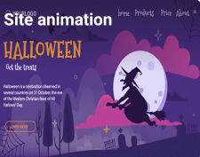 Site animation