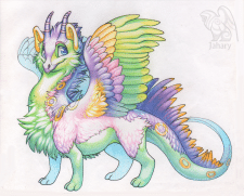 Пушистый дракон