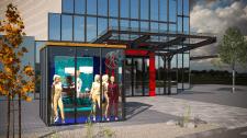 Шоурум на территории торгового центра в Германии