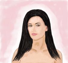 Портрет девушки (акварель)