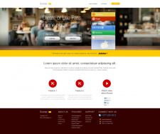 Вариант сайта для стартапа