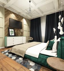 Дизайн проект спальни в современной классике