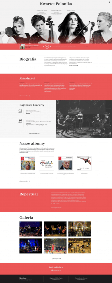 "website of the quartet ""Polonika"""
