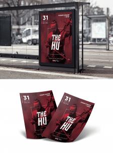 Дизайн афиши и флаеров для концерта The Hu