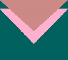 принт в бирюзово-розово-персиковых тонах