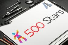 """Логотип """"500 stars"""""""