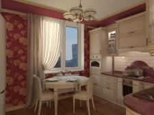 Кухня в классическом стиле с деревянными фасадами
