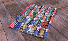 Печатная продукция - список экскурсий на карте.